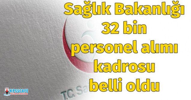 Sağlık Bakanlığı 32 Bin Personel Alımı Kadroları Belli Oldu