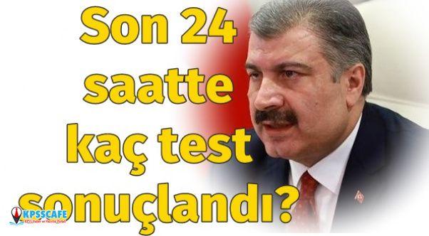 Son 24 Saatte Kaç Test Sonuçlandı?