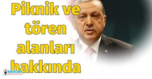 Cumhurbaşkanı Erdoğan, Piknik ve Tören Alanları Hakkında Açıklamalarda Bulundu