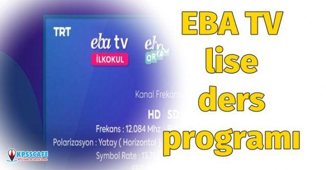 EBA 30 Mart Lise Ders Programı Yayınlandı