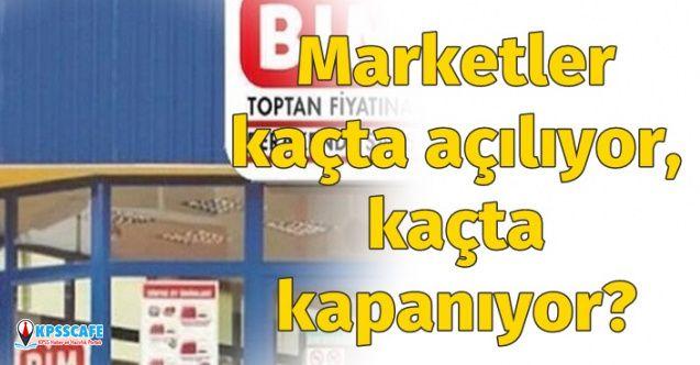 Marketler Kaçta Açılıyor, Kaçta Kapanıyor? Bim, a101, Şok Çalışma Saatleri Nedir?