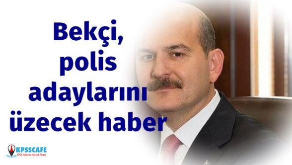 İçişleri Bakanı Soylu açıkladı: Bekçi ve Polis Alımında Adayları Üzecek Haber