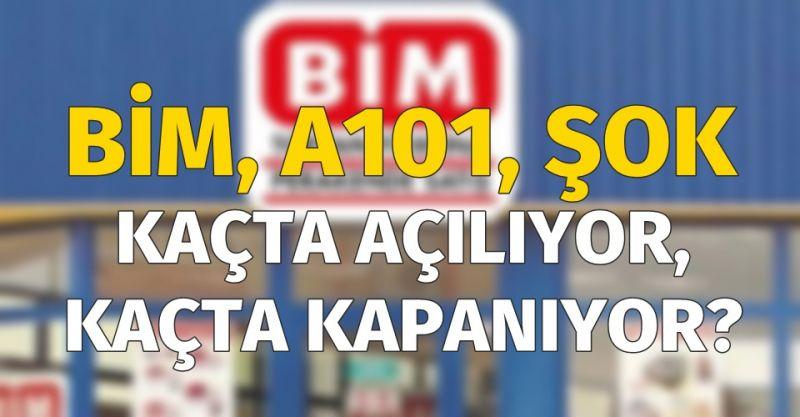 Bim, A101 ve Şok Market Kaçta Açılıyor, Kaçta Kapanıyor? Bim, A101 ve Şok Market Çalışma Saatleri Nedir?
