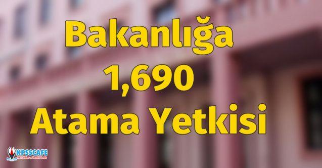 Adalet Bakanlığına 1,690 Atama İzni Verildi