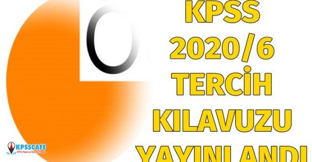 ÖSYM KPSS 2020/6 Tercih Kılavuzunu Yayınladı