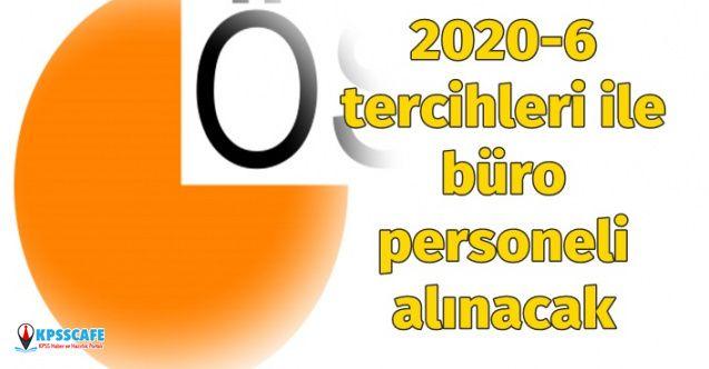 Çevre ve Şehircilik Bakanlığı 2020-6 tercihleri ile büro personeli alacak