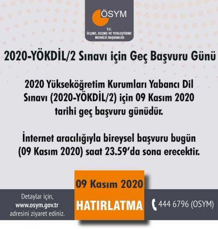 ÖSYM'den YÖKDİL/2 Sınavı İçin Önemli Uyarı !
