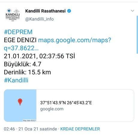 21 Ocak İzmir Depremi