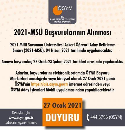 2021 Milli Savunma Üniversitesi Astsubay Sınavı Başvuruları Başladı