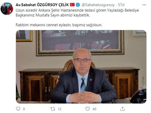 Mustafa Sayın Kimdir ? Hatay Yayladağı Belediye Başkanı Mustafa Sayın Yaşamını Yitirdi !