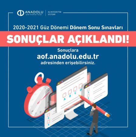 Anadolu Üniversitesi Güz Dönemi Final Sınavı Sonuçları Açıklandı