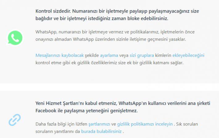 Whatsapp Gizllilik Sözleşmesini İmzalamayan Hesaplara Ne Olacak?