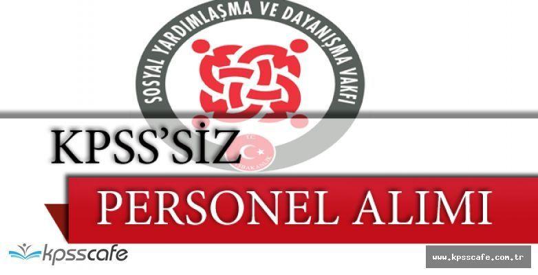 6 Şehirde KPSS Şartsız SYDV Personel Alımı Yapılıyor