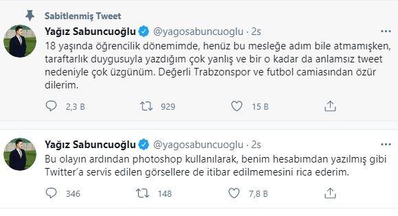 Yağız Sabuncuoğlu Kimdir? Yağız Sabuncuoğlu'nun Trabzonspor Tweeti Taraftarları Ayağa Kaldırdı!