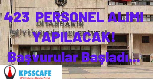 Diyarbakır Büyükşehir Belediyesi Personel Alımı Başvuru Ekranı Açıldı!