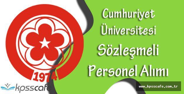 Sivas Cumhuriyet Üniversitesi En Az Lise Mezunu Hemşire, Biyolog, Sağlık Teknikeri Alımı Yapıyor
