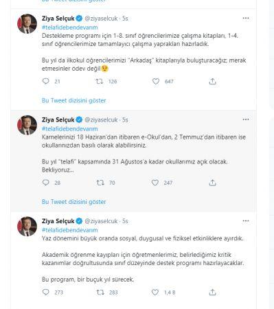 MEB Bakanı Ziya Selçuk'tan Karne Ve Telafi Açıklaması