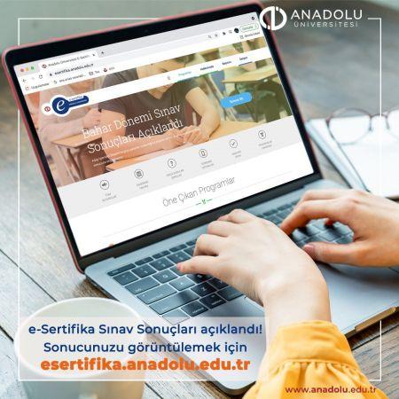 Anadolu Üniversitesi E- Sertifika Sınav Sonuçları Açıklandı