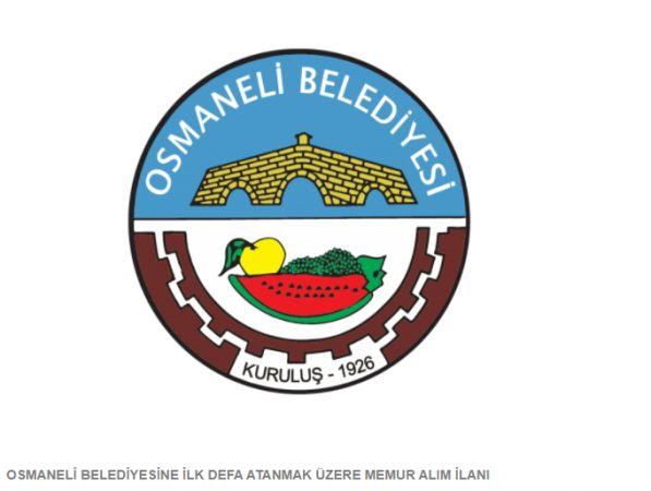 Bilecik Osmaneli Belediyesi Mühendis, Tekniker, VHKİ, Zabıta Memuru Ve Tahsildar Alımı Yapıyor