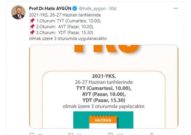 ÖSYM Başkanı Halis Aygün'den 2021 YKS Hakkında Son Uyarılar..