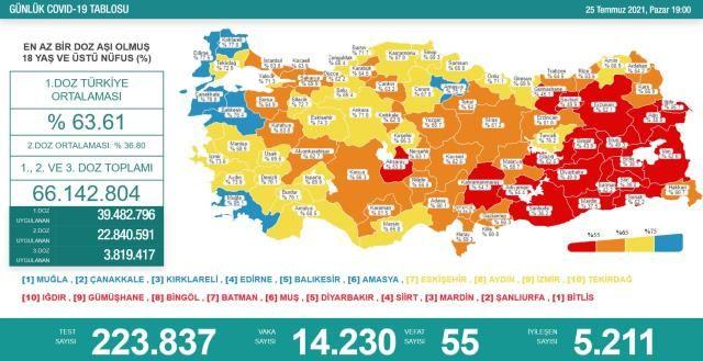 Korona Tablosu Giderek Vahim Bir Hal Alıyor! 25 Temmuz Koronavirüs Tablosu