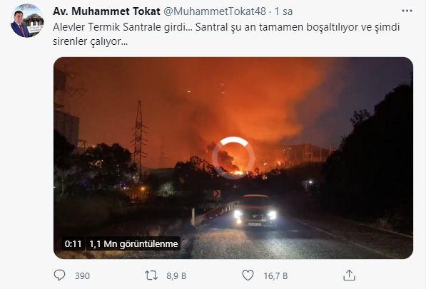 Milas'ta Patlama Sesleri! Yangın Termik Santrale Ulaştı!