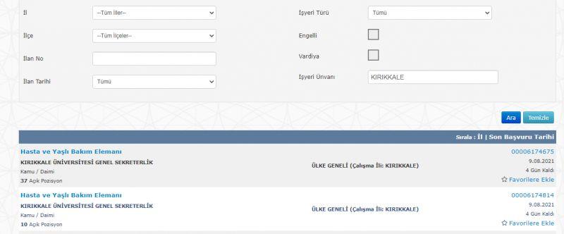 Kırıkkale Üniversitesi Tıp Fakültesi 47 Hasta Ve Yaşlı Bakım Elemanı Alımı Yapacak