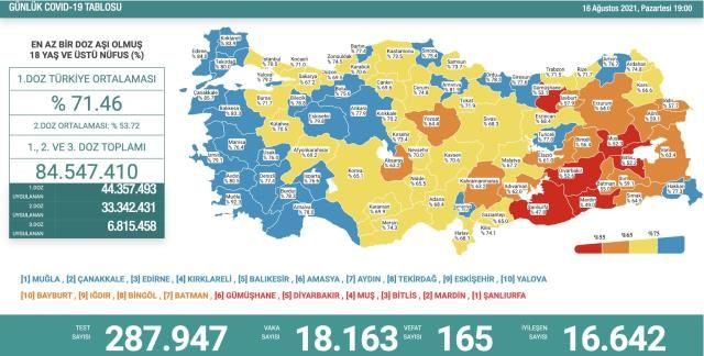 Vefat Sayısı Artmaya Devam Ediyor! 16 Ağustos Koronavirüs Tablosu
