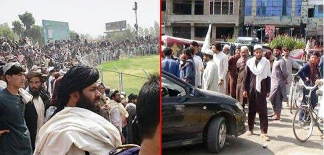 Afganistan'da Taliban 4 Komutanı Stadyumda İdam Etti!