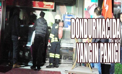 Dondurmacıda yangın paniği
