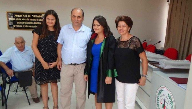 Küçükosmanoğlu'nun kızı avukat oldu