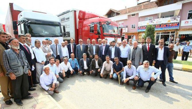 Türkmenlere yardım gönderdiler