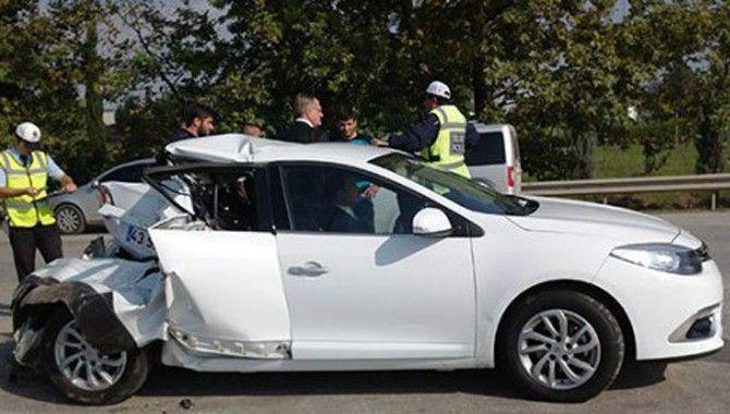 Başkanlar kazayı ucuz atlattı