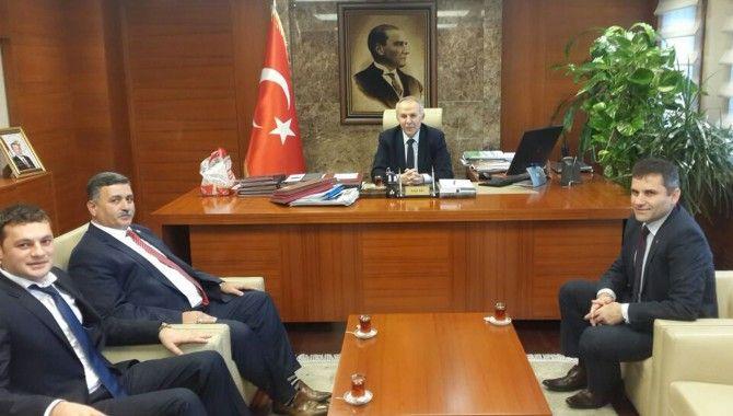 MUHTAR ALTINTAŞ'TAN Kaymakam Aydın'a Ziyaret