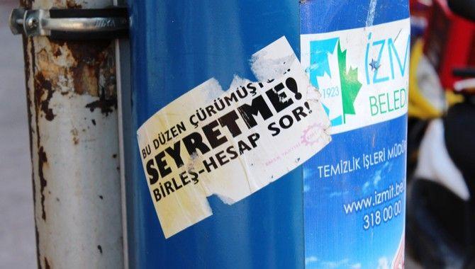 Çöp sepetleri ilan panosu değil!