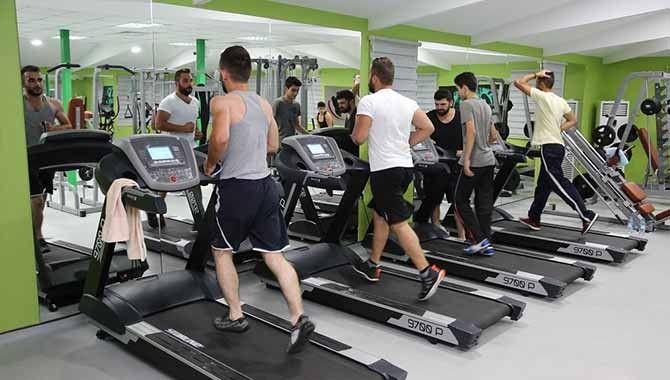 Başiskele'de gençler için fitness salonu