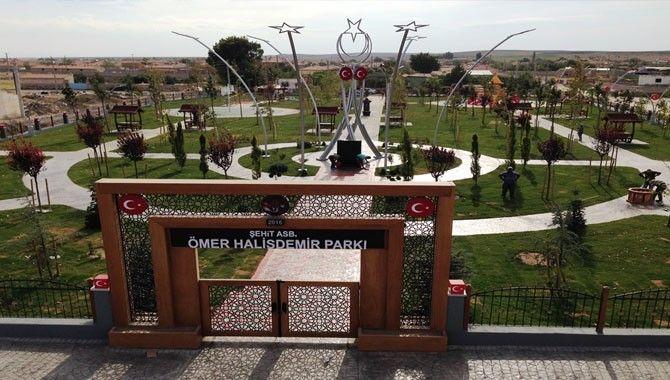 Şehit Halisdemir'in adına Niğde'de yapılan park tamamlandı
