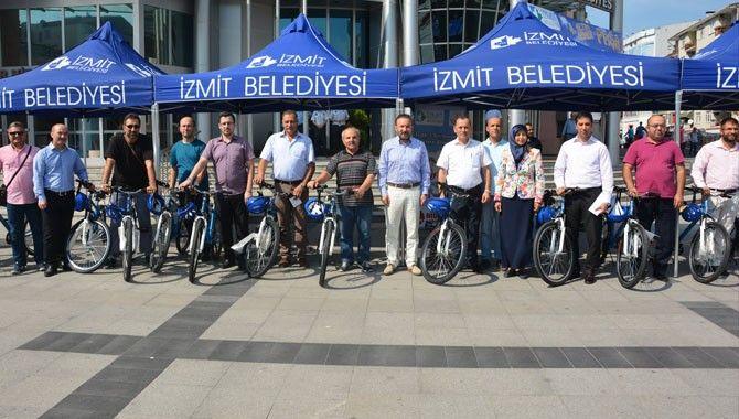 Sendika başkanlarına hediye bisiklet