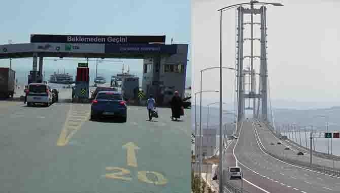 Eskihisar Feribotu ve Osmangazi Köprüsünde bayram yoğunluğu