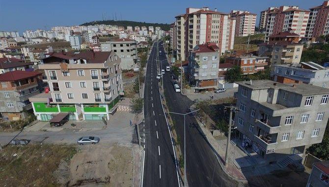 İki ilçeyi bağlayan cadde yenileniyor