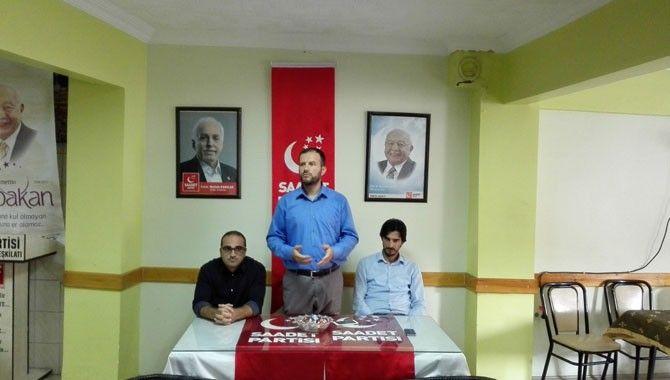 Saadet Partisi Karamürsel'de bayramlaştı