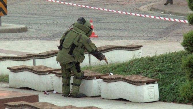 Orduevi yakınındaki şüpheli paket fünye ile patlatıldı