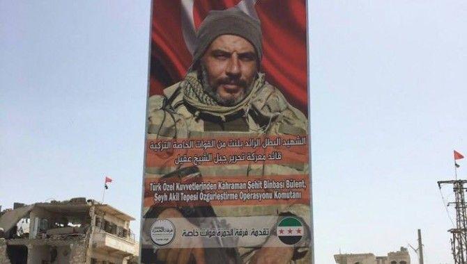 Gölcüklü şehidimizin posteri El-Bab caddelerinde…