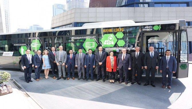 Akıllı otobüsler KOÜ'ye teslim edildi