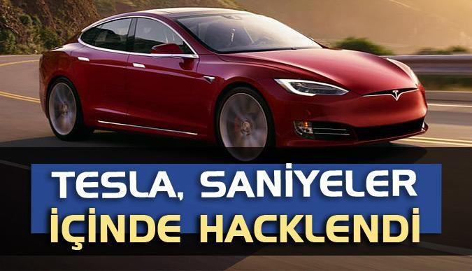Tesla, saniyeler içinde hacklendi