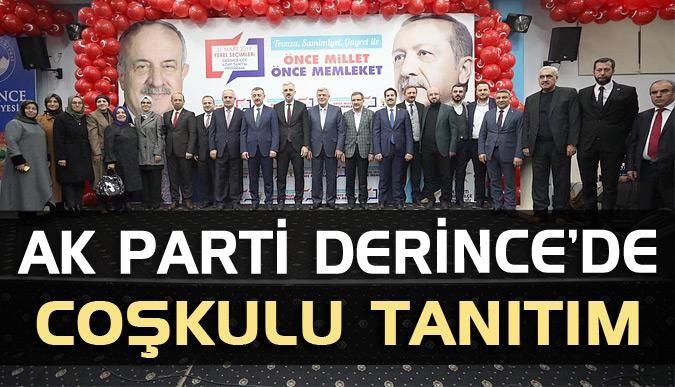 AK Parti Derince'de coşkulu tanıtım
