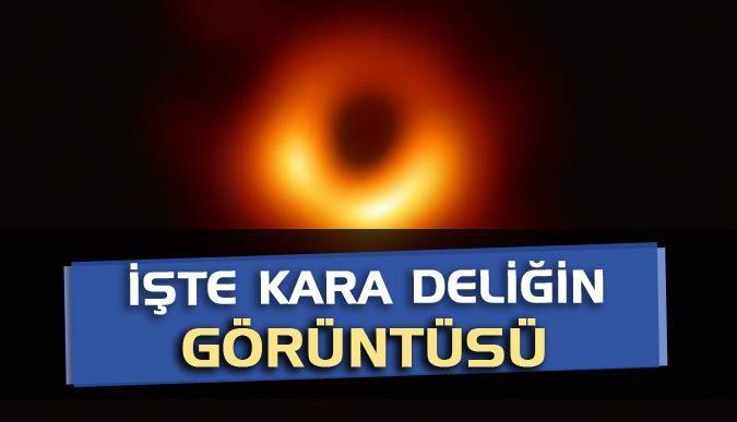 İşte kara deliğin görüntüsü