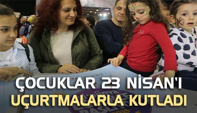 Çocuklar 23 Nisan'ı uçurtmalarla kutladı