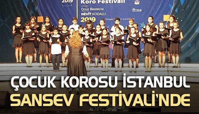 Çocuk Korosu İstanbul Sansev Festivali'nde