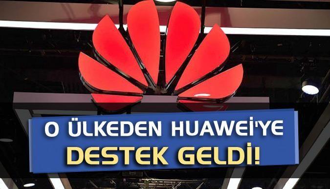 O ülkeden Huaweiye destek geldi!